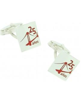 Cufflinks for shirt Sterling silver enameled based on image