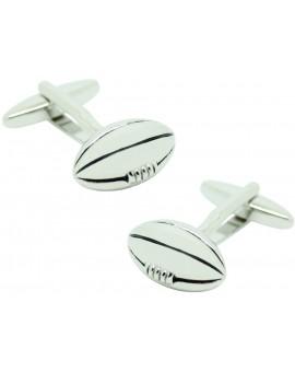 Gemelos Balón de Rugby plateado