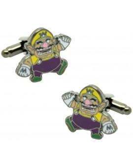 Gemelos para camisa WARIO de Mario Bros