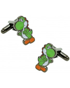 Gemelos para camisa dinosaurio YOSHI Mario Bros