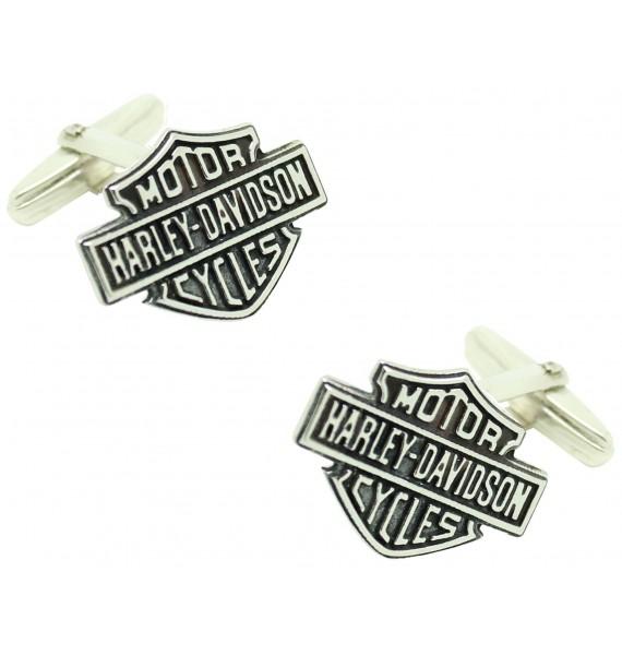 Gemelos para camisa Harley Davidson Plata de ley PREMIUM