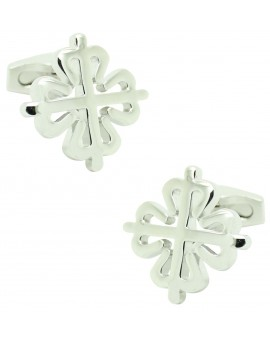 Cufflinks for shirt Cross of the order of silver Alcántara