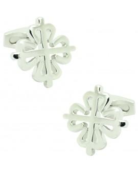 Cufflinks for shirt Cross of the order of silver Alcántara