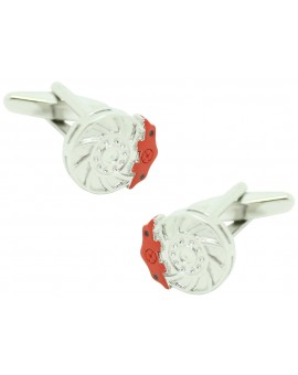 Red Disc Brake Cufflinks
