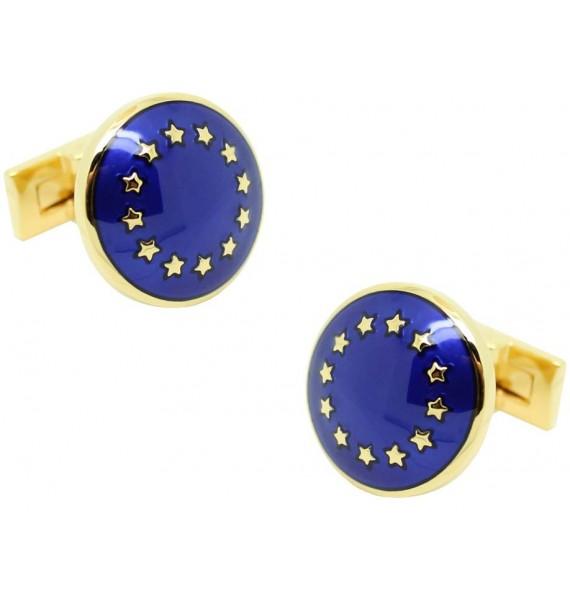 Gemelos para camisa Skultuna Unión Europea - dorado