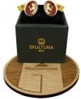 Gemelos para camisa Skultuna escudo de armas de Noruega - dorado