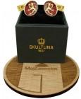 Gemelos para camisa Skultuna escudo de armas de Finlandia - dorado