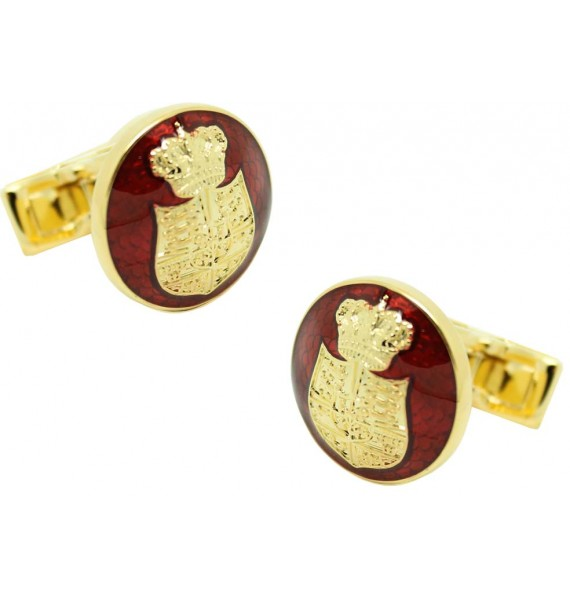 Coat of Arms of Denmark cufflinks SKULTUNA - golden