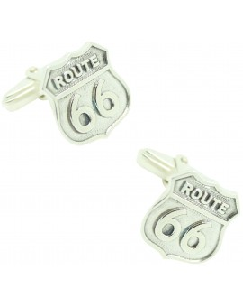 Cufflinks for shirt Route 66 925 Sterling Silver PREMIUM