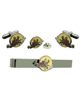Pack Gemelos de camisa TinTin con Pasador de corbata y Pin de solapa
