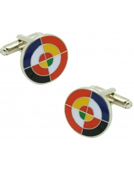 Cufflinks flag of Eurofighter
