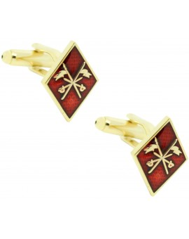 Cufflinks for rhombus cavalry emblem shirt