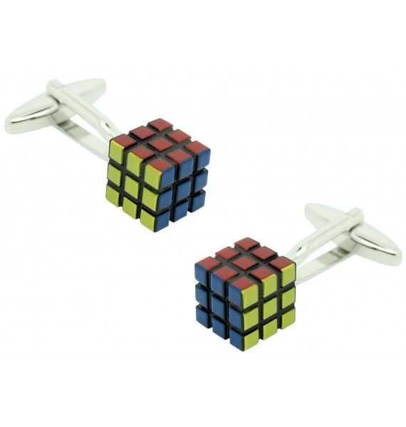 Cufflinks for Cube Rubik 3D original