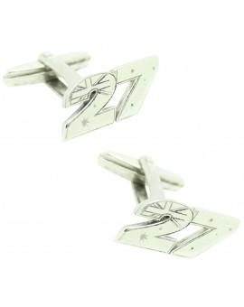 Cufflinks for shirt Casey Stoner 27 925 sterling silver