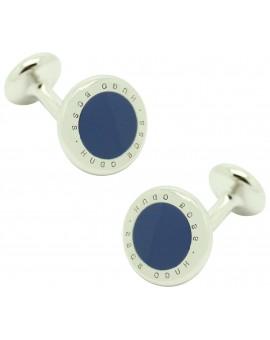 Gemelos Hugo Boss roundel letters dot - azul