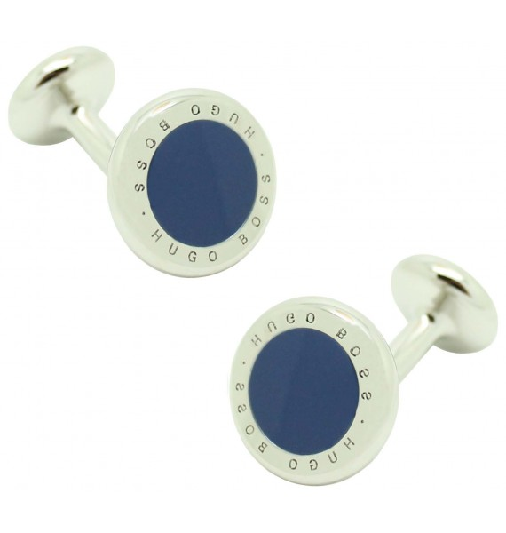 Cufflinks Hugo Boss roundel letters dot - blue