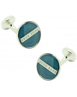 Cufflinks Hugo Boss Roundel enamel Fix - blue