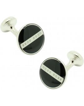 Cufflinks Hugo Boss Roundel enamel Fix - black