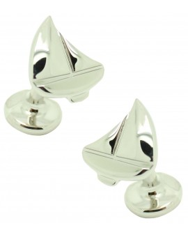Cufflinks Hugo Boss Sailing boat - plated