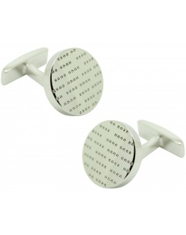 Cufflinks Hugo Boss letters roundel fixed - plated