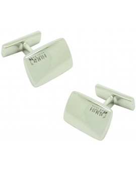 cufflinks Hugo Boss square letters 3D - plated
