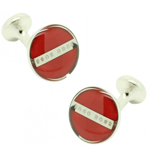 Cufflinks Hugo Boss Roundel enamel Fix - red
