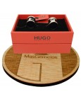 Cufflinks for round shirt Hugo Boss with blue navy enamel