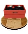 Gemelos para camisa cuadrado Hugo Boss con esmalte azul marino