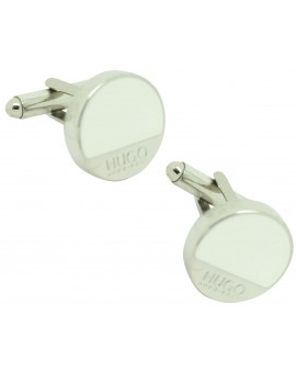 cufflinks Hugo Boss roundel WHITE elegant - plated