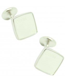 Gemelos Hugo Boss rounded blanco luxury - plated