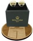 golden Double Eagle Skultuna Cufflinks - White