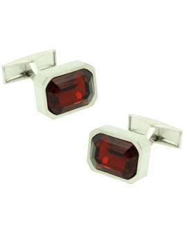 red square Swarovski Cufflinks