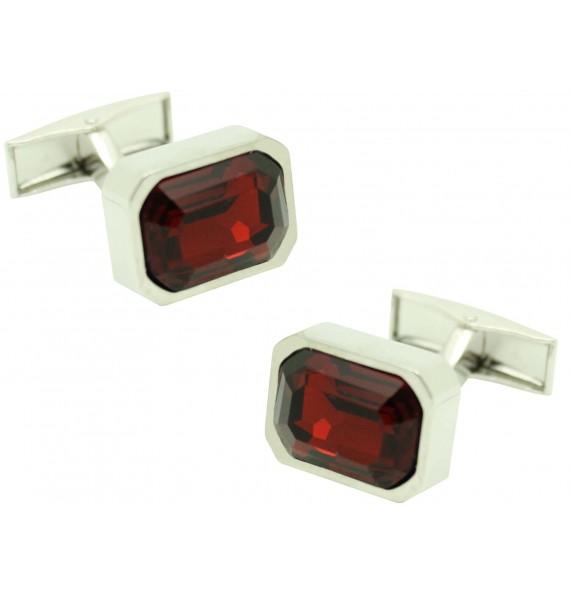 red square Swarovski Cufflinks
