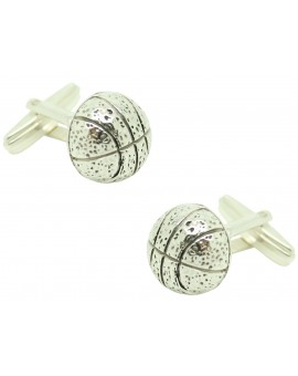 Cufflinks for basketball ball 925 Sterling Silver PREMIUM