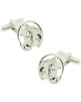 Cufflinks of horse head whip horse