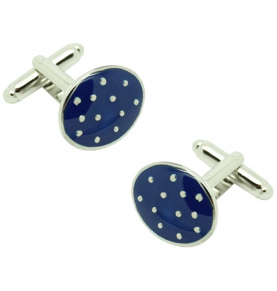 cufflinks blue navy dots