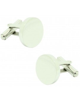 Cufflinks for plain roundel shirt to engraving your initials