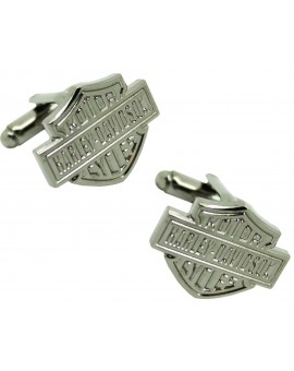 Harley Davidson cufflinks in black