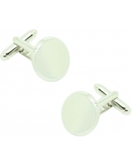 Cufflinks for shirt roundel button 15mm to record