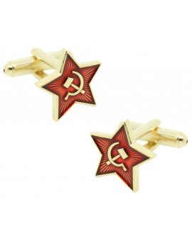 Communist star cufflinks for men