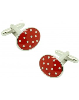 cufflinks red dots