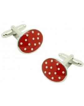 cufflinks red dots
