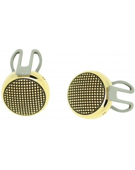 cover button roundel with dots - golden