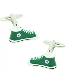 cufflinks of converse in green bottle