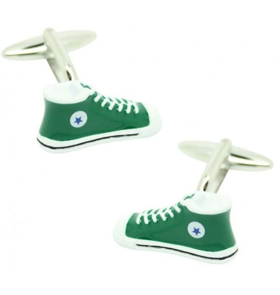 cufflinks of converse in green bottle
