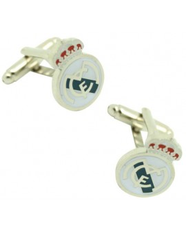 Cufflinks of Real Madrid smooth plated