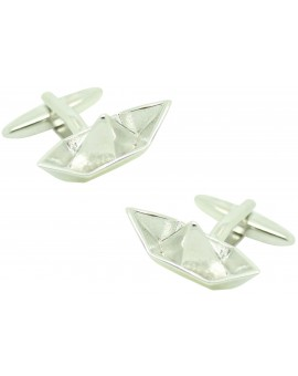 Cufflinks for shirt Paper boat