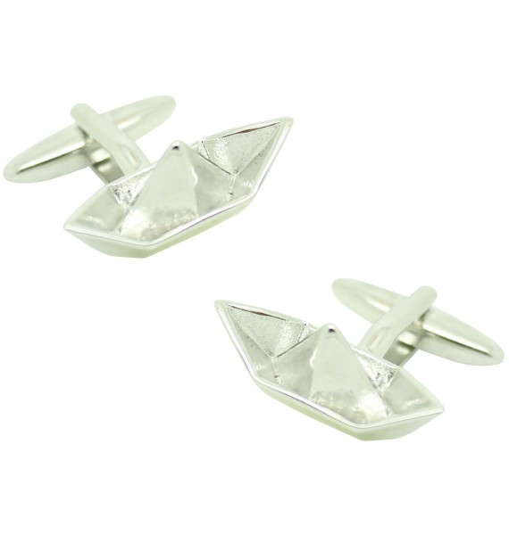 Cufflinks for shirt Paper boat