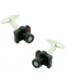 Cufflinks for shirt Reflex Photo Camera black
