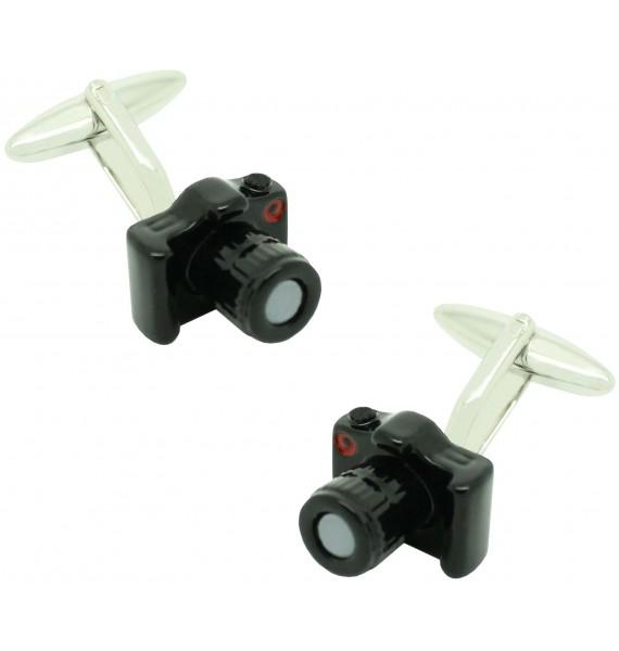 Gemelos para camisa Cámara de Fotos Reflex negra
